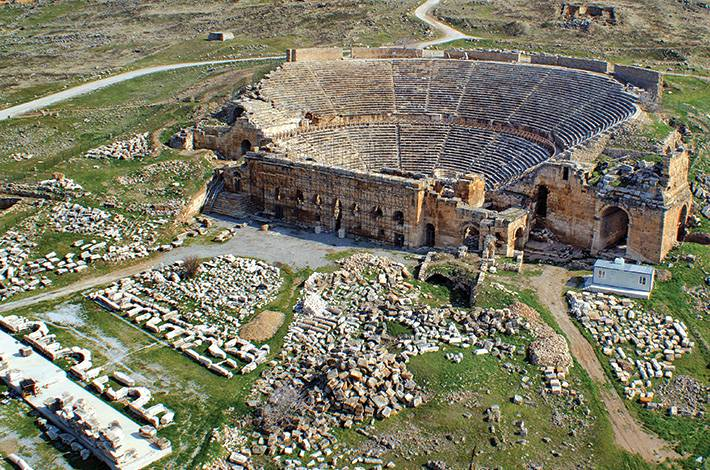 Denizli Hierapolis Arkeoloji Müzesi Hierapolis Kazıları Pamukkale Antik Roma Hamamı Hierapolis Antik Kenti  Gymnasium
